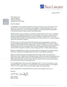 Best Lawyer Letter